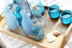 Sea glass accents and sunlight
