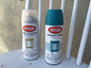 Spray on Krylon Chalky Finish Paint
