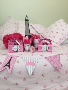 Paris Party supplies in pink and black