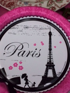 Paris Party plate