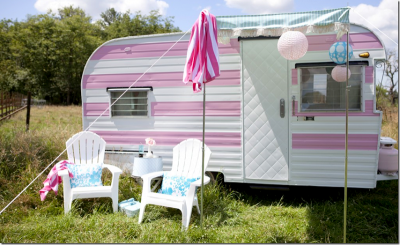 shabby chic vintage camper trailer